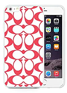 Coach 32 White iPhone 6 Plus 5.5 inch Screen TPU Cover Case Fashionable and Charming Designed