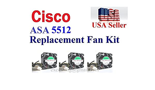 Amazon com: 3x new OEM replacement fans for Cisco ASA5512 Security