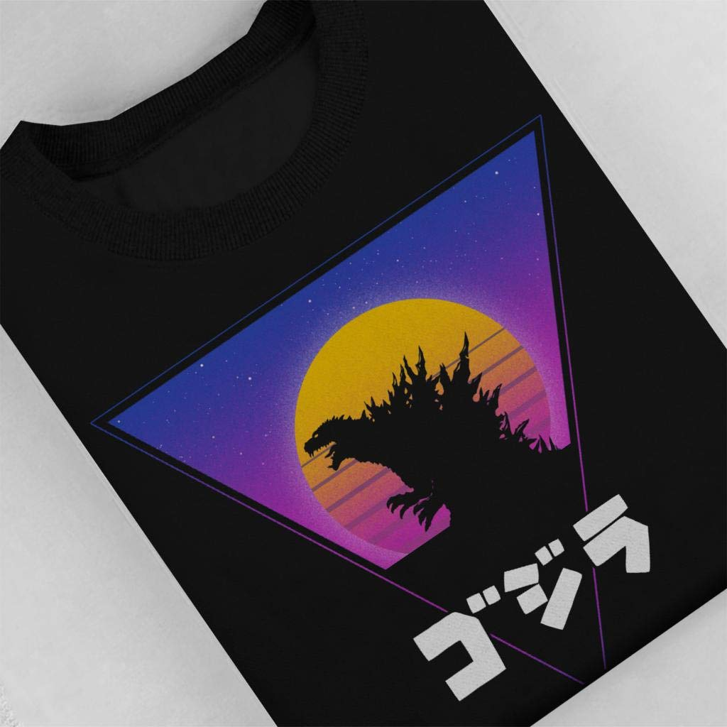 Retro King 80s Godzilla Retro Triangle Kids Sweatshirt