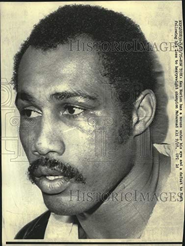 - 1976 Press Photo Boxer Ken Norton after lose to Mohammad Ali in New York. - Historic Images