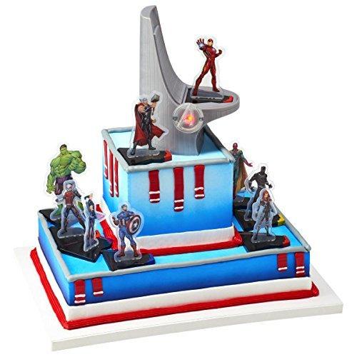 DecoPac Marvel Signature Avengers Headquaters DecoSet Cake