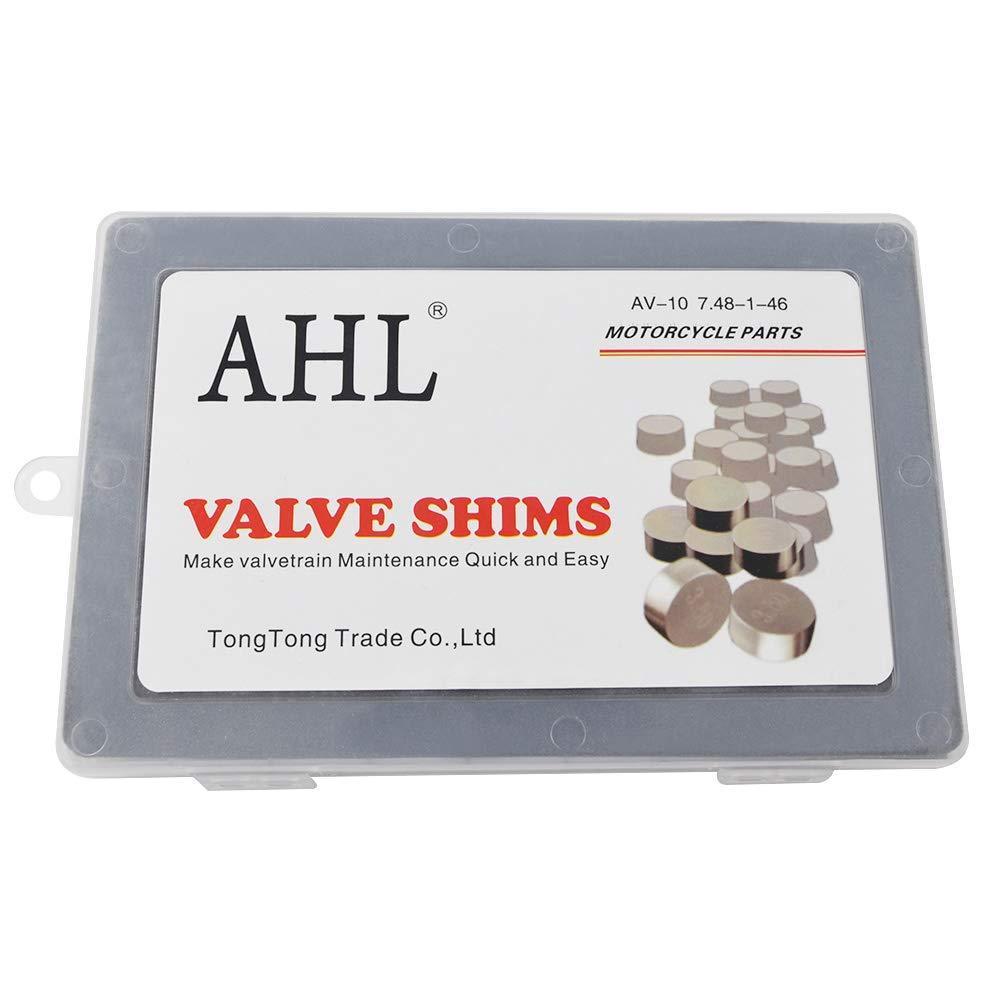 AHL Pastille r/églage soupapes kit valve shim 7.48mm 46pcs 1.225-3.475mm pour Yamaha FZS600 FZ6 2004-2007//FZS1000 FZ1 2001-2008