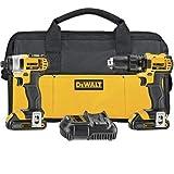 DEWALT DCK280C2 20-Volt Max Li-Ion 1.5 Ah Compact Drill and Impact Driver Combo Kit