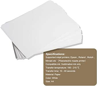 Amazon.com: A4 Sublimation Transfer Paper (100 hojas) para ...