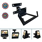 Wall Mount Bracket For Alexa Show Speaker/TV,Change Screens Angle,Matte Matal Wall Mount Monitor Up To 11 lbs For 14-24 LED/LCD/OLED Plasma Flat Screen Sony/Samsung/LG/Panasonic/Vizio/Echo Speaker