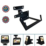 Wall Mount Bracket For Alexa Show Speaker/TV,Change Screen's Angle,Matte Matal Wall Mount Monitor Up To 11 lbs For 14-24'' LED/LCD/OLED Plasma Flat Screen Sony/Samsung/LG/Panasonic/Vizio/Echo Speaker