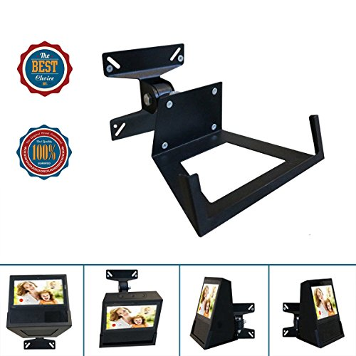Wall Mount Bracket For Alexa Show Speaker/TV,Change Screen's Angle,Matte Matal Wall Mount Monitor Up To 11 lbs For 14-24