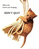 Don't Quit Kitten on Rope Art Print Poster Mini Poster Art Poster Print, 16x20