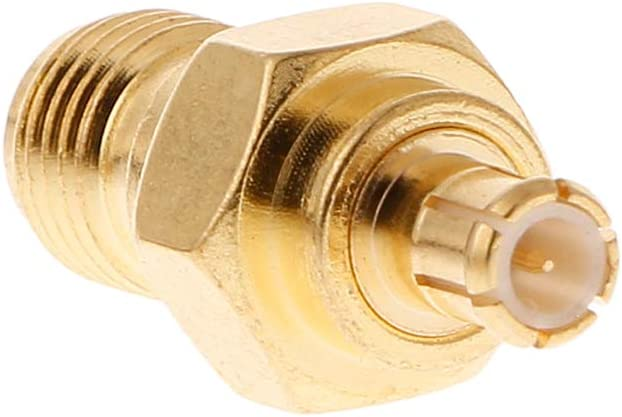 SMA Female to MCX Male Plug Straight RF Coaxial Adapter Connector Converter by Keaiduoa