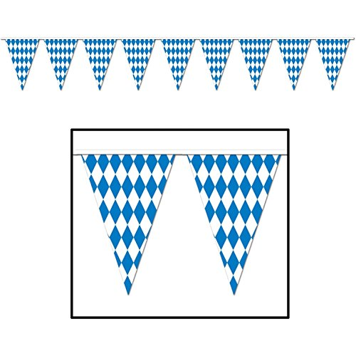 Oktoberfest Pennant Banner Party Accessory (1 Count) (1/pkg) Pkg/3 by Beistle