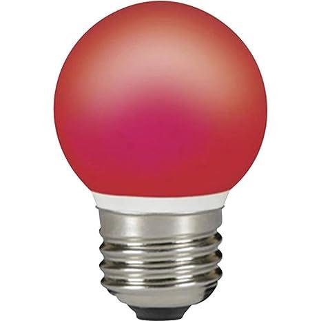 TopQual - Bombilla LED de color rojo de 4 W con casquillo E27 equivalente a 40