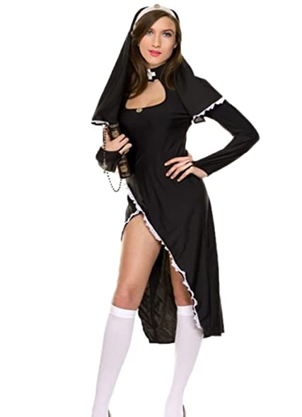 Nun Costume Women - Naughty Halloween Sexy Nun Costumes for Women  sc 1 st  Amazon.com & Amazon.com: Nun Costume Women - Naughty Halloween Sexy Nun Costumes ...