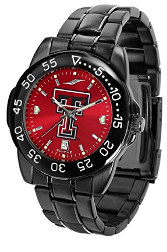 SunTime Collegiate Fantom Sport Anochrome Premium Mens Watch with Gunmetal Band (Texas Tech)