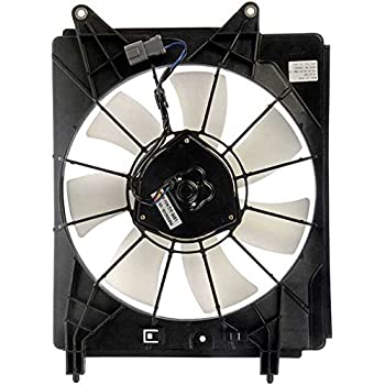 APDTY 731366 AC Condenser Cooling Fan Assembly For 1995-1997 Honda Accord V6 2.7L Includes Fan Motor, Blade, Shroud Right