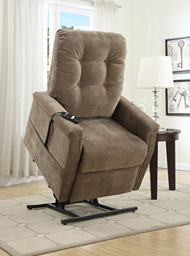 Pulaski Montreal Coffee Fabric Lift Chair, Brown by Pulaski