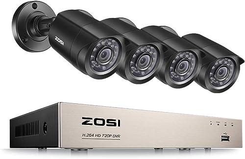 ZOSI 720P 4CH HD Security Camera System