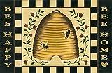 Cheap Bee Happy Bee Home Floor Mat
