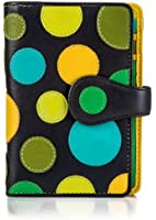 Visconti P1 Saturn Womens Soft Leather Bifold Wallet / Purse with Polka Dots