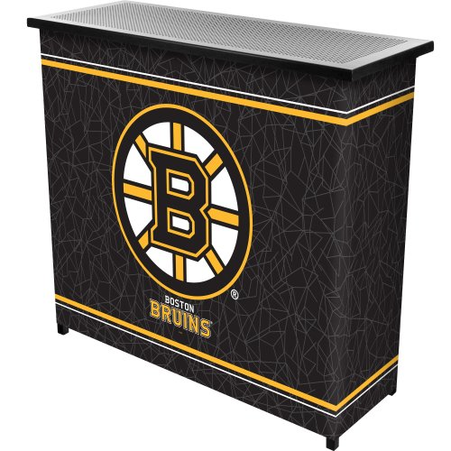 NHL Boston Bruins Two Shelf Portable Bar with Case