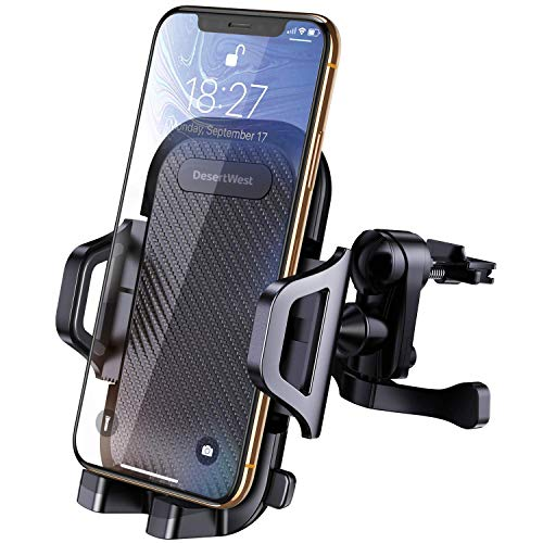 DesertWest Car Phone Mount Air Vent Phone Holder for Car Adj