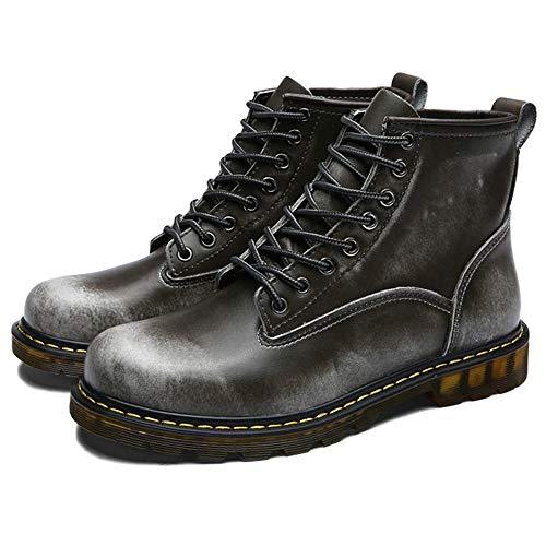 Alte Stivali Marten retr Autunno Classica Stivaletti Pelle Classici Boots Stivali Doc in Primavera Scarpe per Pelle Uomo Adulti E 46w7qx