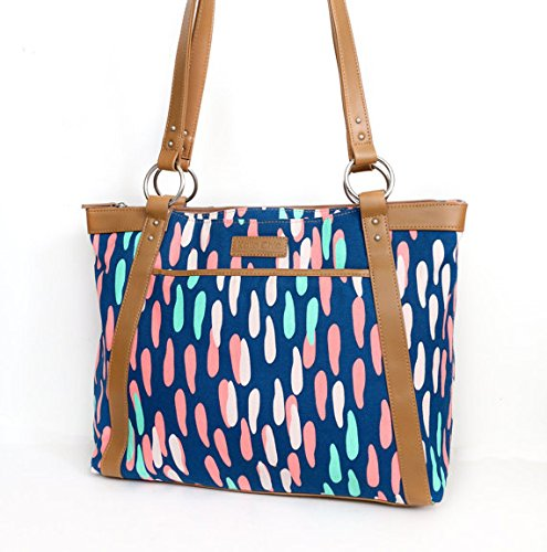 kailo-chic-casual-154-laptop-tote-confetti-in-pink-mint-and-navy