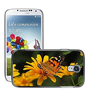 Hot Style Cell Phone PC Hard Case Cover // M00047648 butterfly animals orange yellow // Samsung Galaxy S4 i9500