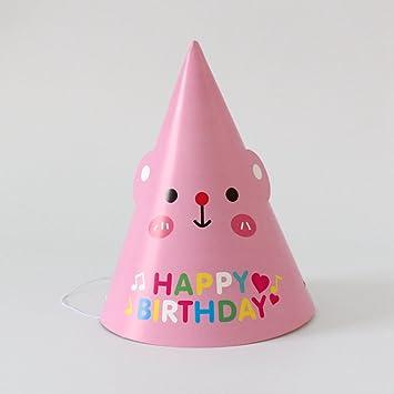 Amazon 12 Pcs Birthday Party Hat Pink Bear Health Personal