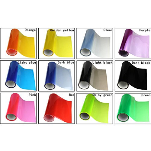 Wotefusi 100x30cm 12 Color All Car Tail Head Light Fog Lamp Tint Roll Vinyl Film Sheet Sticker