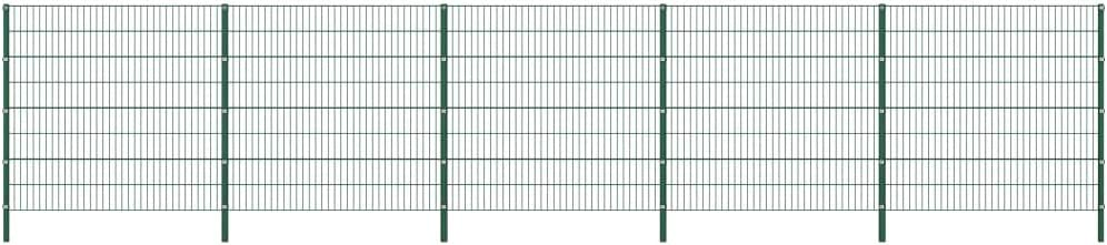 UnfadeMemory Valla Jardin Metalica con Postes,Panel de Valla para Jardin,Decoracion Jardin,Hierro Verde (8,5x1,6m): Amazon.es: Hogar
