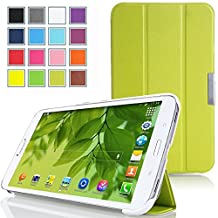 Tisuns Samsung Galaxy Tab 3 Lite / Tab E Lite 7.0 Case - Ultra Slim Lightweight Stand Cover for Samsung Galaxy Tab 3 Lite 7.0 SM-T110 / SM-T111 / Tab E Lite SM-T113 7-Inch Tablet, Green