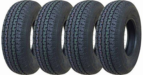 (4 New Premium Grand Ride Trailer Tires ST 185/80R13 8PR Load Range D - 11059 …)