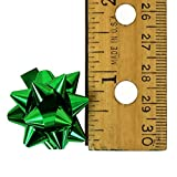 Iconikal 1-Inch Mini Christmas - Holiday Bows, 6 Colors, 120-Count