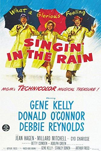 Singin In the Rain, Gene Kelly, Debbie Reynolds, Movie, Poster Art, Souvenir Magnet 2 x 3 Fridge Magnet