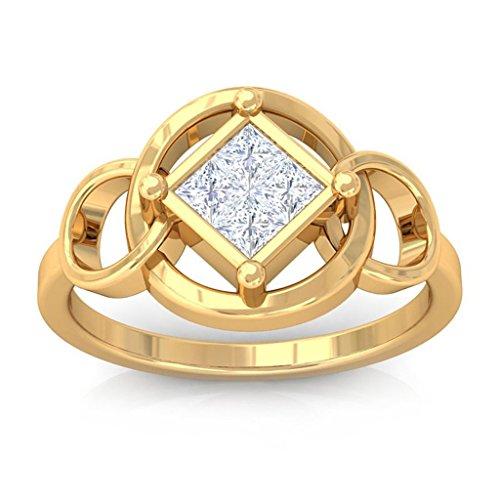 0.32 Ct Princess Diamond - 6