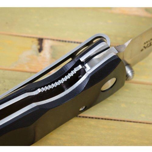Mcusta Basic Folder VG-10 Stainless Black Micarta Finger Groove Handles