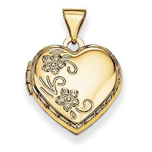ICE CARATS 14kt Yellow Gold Domed Heart Photo Pendant Charm Locket Chain Necklace That Holds Pictures Fine Jewelry Ideal Gifts For Women Gift Set From Heart 14kt Gold Domed Heart Locket