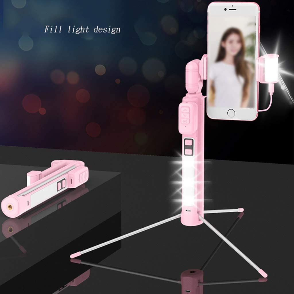 Fill light ZHAOSHUNLI Integrated Self-Timer Bluetooth Remote Control Camera Artifact Extended Mini Universal Color : White