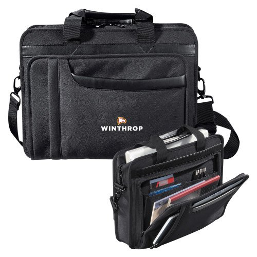 Winthrop Paragon Black Compu Brief 'Primary Mark' by CollegeFanGear