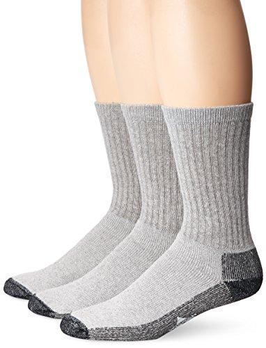Wigwam Men's At Work 3-Pack Crew Socks, Grey,,Sock size : Large ( shoe Size : Men's 9-12 , Women's 10-13)