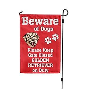 Cuidado de Golden Retriever perro de guardia Patio Patio Casa Banner bandera de Jardín Juego