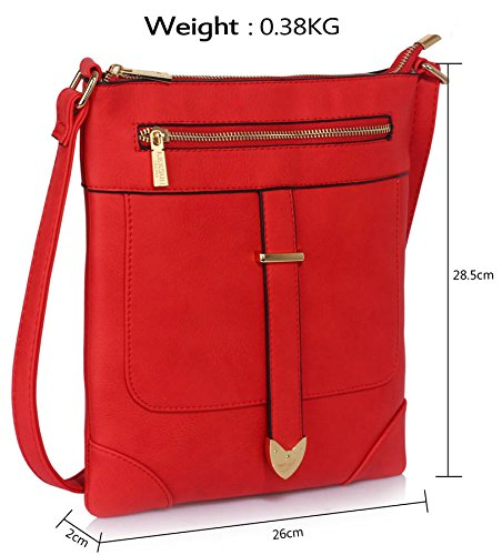 Designer Bags Womens Cross Red Design Crossbody With Luxury Ladies New Shoulder Body 1 Zip Front Messenger qRE1z