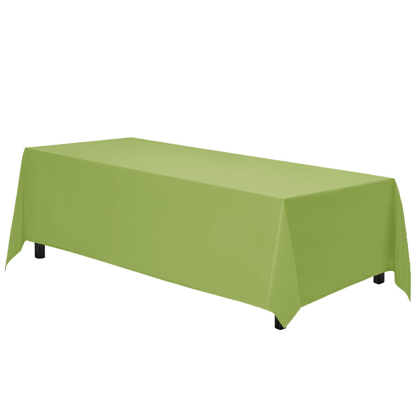 Gee Di Moda Rectangle Tablecloth - 90 x 132 Inch - Apple Green Rectangular Table Cloth for 6 Foot Table in Washable Polyester - Great for Buffet Table, Parties, Holiday Dinner, Wedding & More