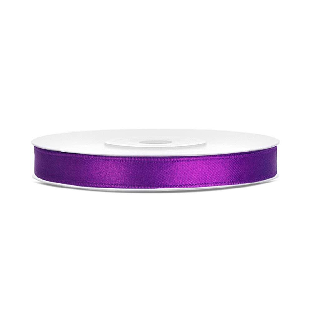 Purple 6mm x 25m Gr/ö/ße Farbe DaLoKu Satinband 6//12//25//38//50//100mm x 25m Geschenkband Schleifenband