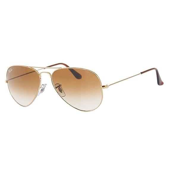 1b0833423 Ray-Ban RB3025 Aviator Large Metal Aviator Sunglasses, Brown: Rayban ...