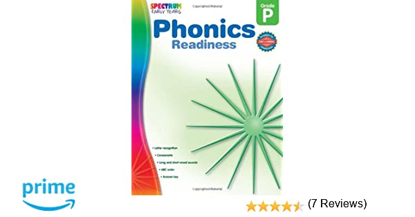 Phonics Readiness, Grade PK (Early Years): Spectrum: 9781609962043 ...