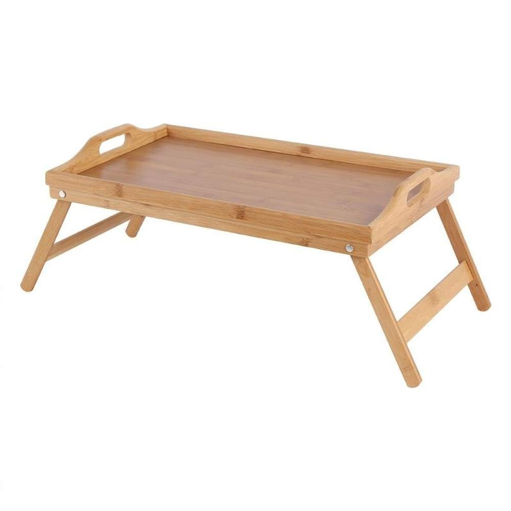 Bed Tray Table with Folding Legs Serving Breakfast in Bed Laptop Computer Desktop Snack Tray by Desk