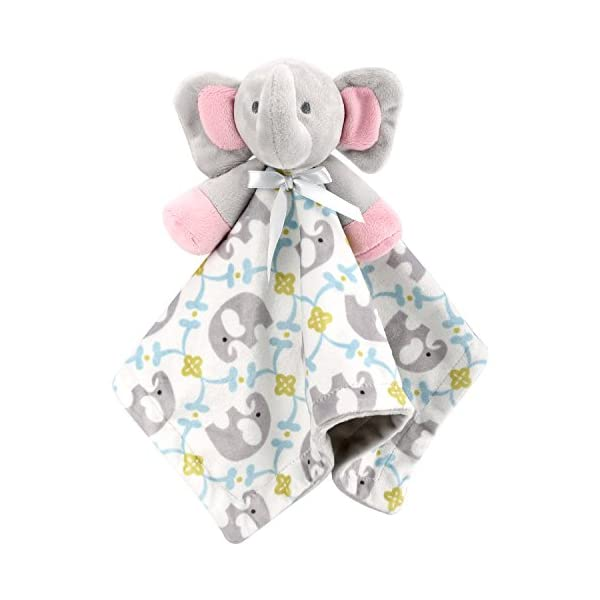 Zooawa Baby Security Blanket, Soft Stuffed Animal Elephant Plush Security Blanket Soothing Toy for Baby Toddles Kids, Elephant