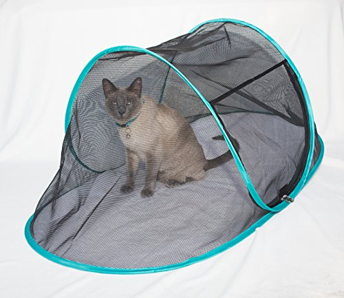 The Cat House Outdoor Pet Enclosure for Indoor Cats Portable View Pop Up Tent Catio for Deck Patio Yard Balcony RV Travel Includes Large Storage Pouch