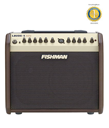 Fishman Loudbox Mini 60W Acoustic Combo Amplifier with 1 Year Free Extended (90 Acoustic Chorus Guitar Amplifier)
